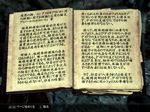 Skyrim books in Japanese